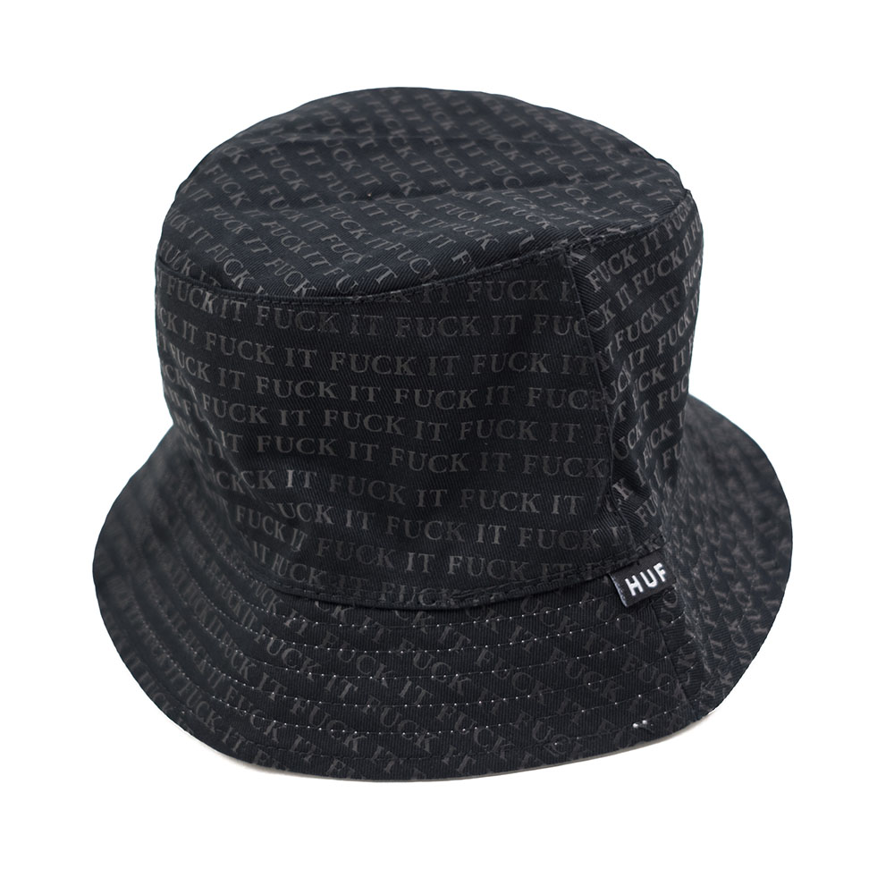 HUF Fuck It Reversible Bucket Hat - Black/White