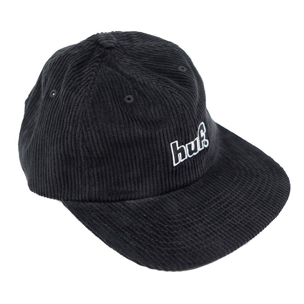 HUF 1993 Logo 6 Panel Hat - Black