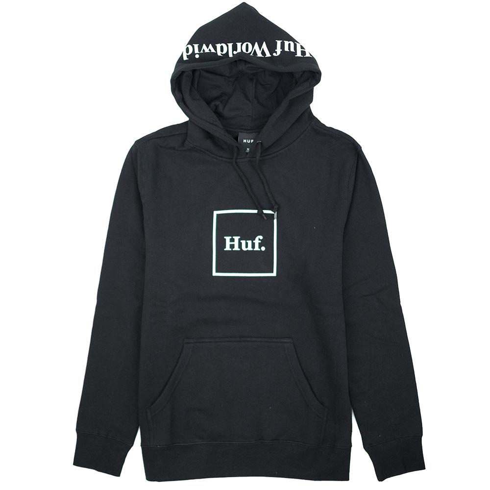 HUF Box Logo Pullover Hoodie - Black
