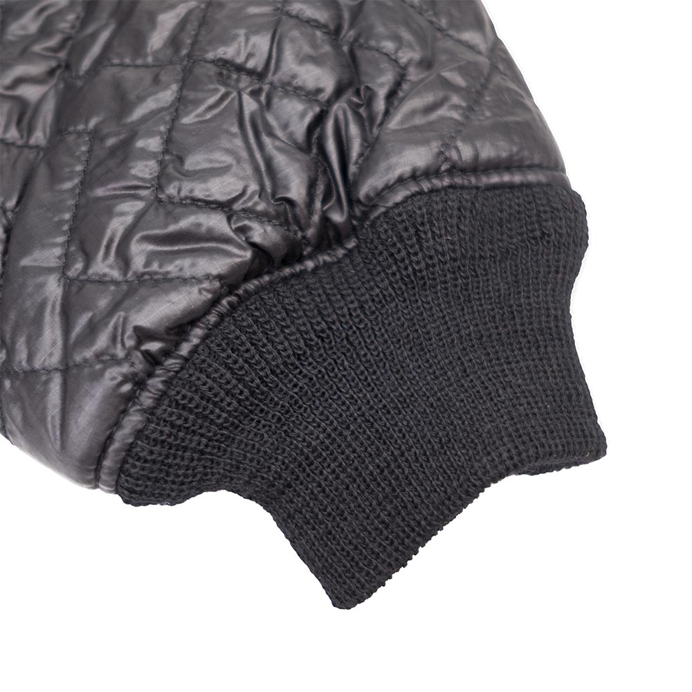 Monitaly Quilted Crewneck Pullover - Black