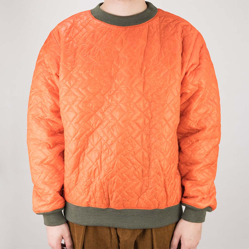 Monitaly Quilted Crewneck Pullover - Orange