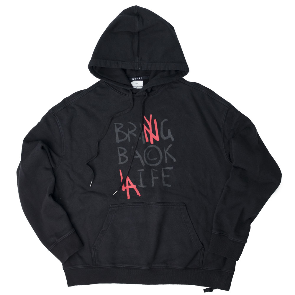 Ksubi Its Back Biggie Hoodie - Jet Black