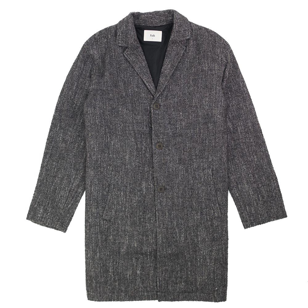 Folk Tag Coat - Mottled Charcoal
