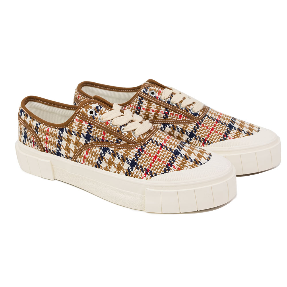 Good News Ace Sneaker - Brown Check