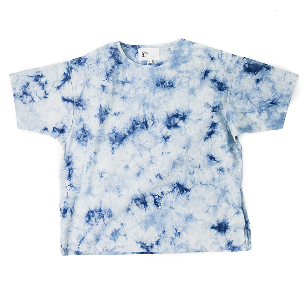 Taproot Hand Tie-Dyed Short Sleeve Tee - Indigo