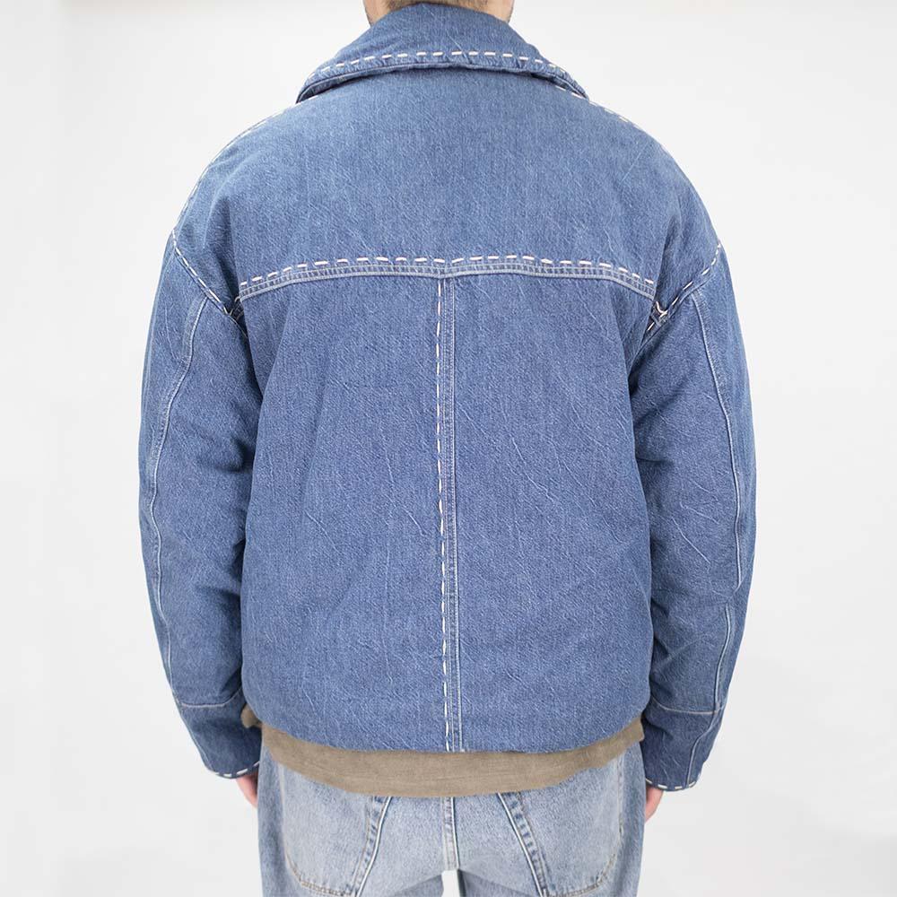 Kuro Denim Padding Boundary Jacket - Light Indigo