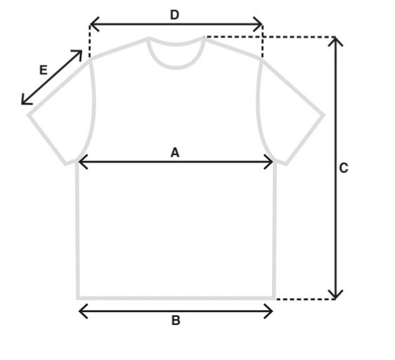 PS tee size