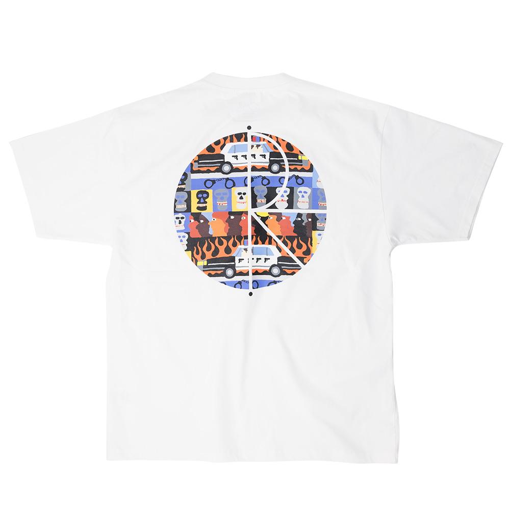 Polar Skate Co. ACAB Fill Logo Tee - White