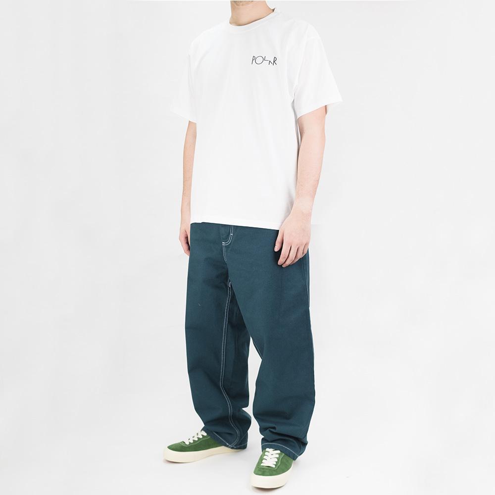 Polar Skate Co ACAB Fill Logo Tee - White 1