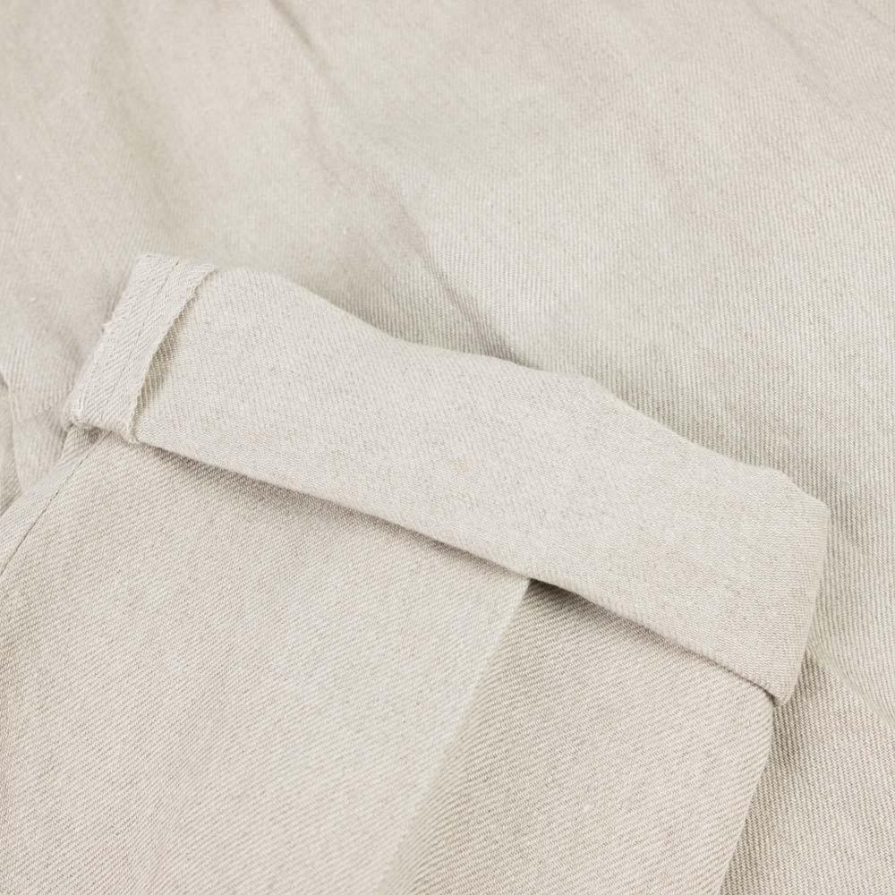 IKIJI Linen Denim Waist Adjustable Pants - Light Grey
