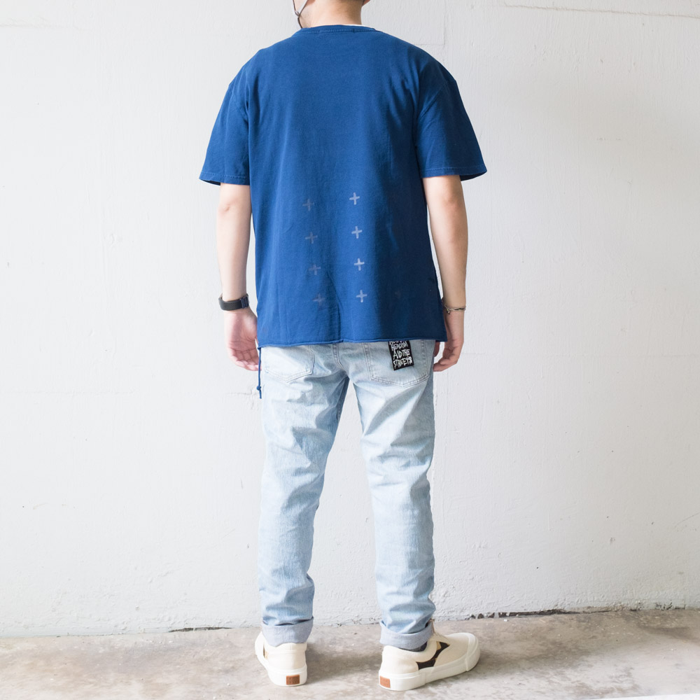 Ksubi cross logo tee x wolfgang jeans