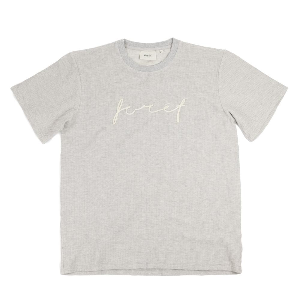 forét Path T-Shirt - Light Grey Melange