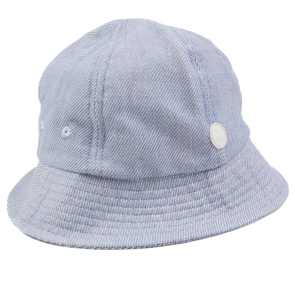 Folk Bucket Hat - Woad Twill