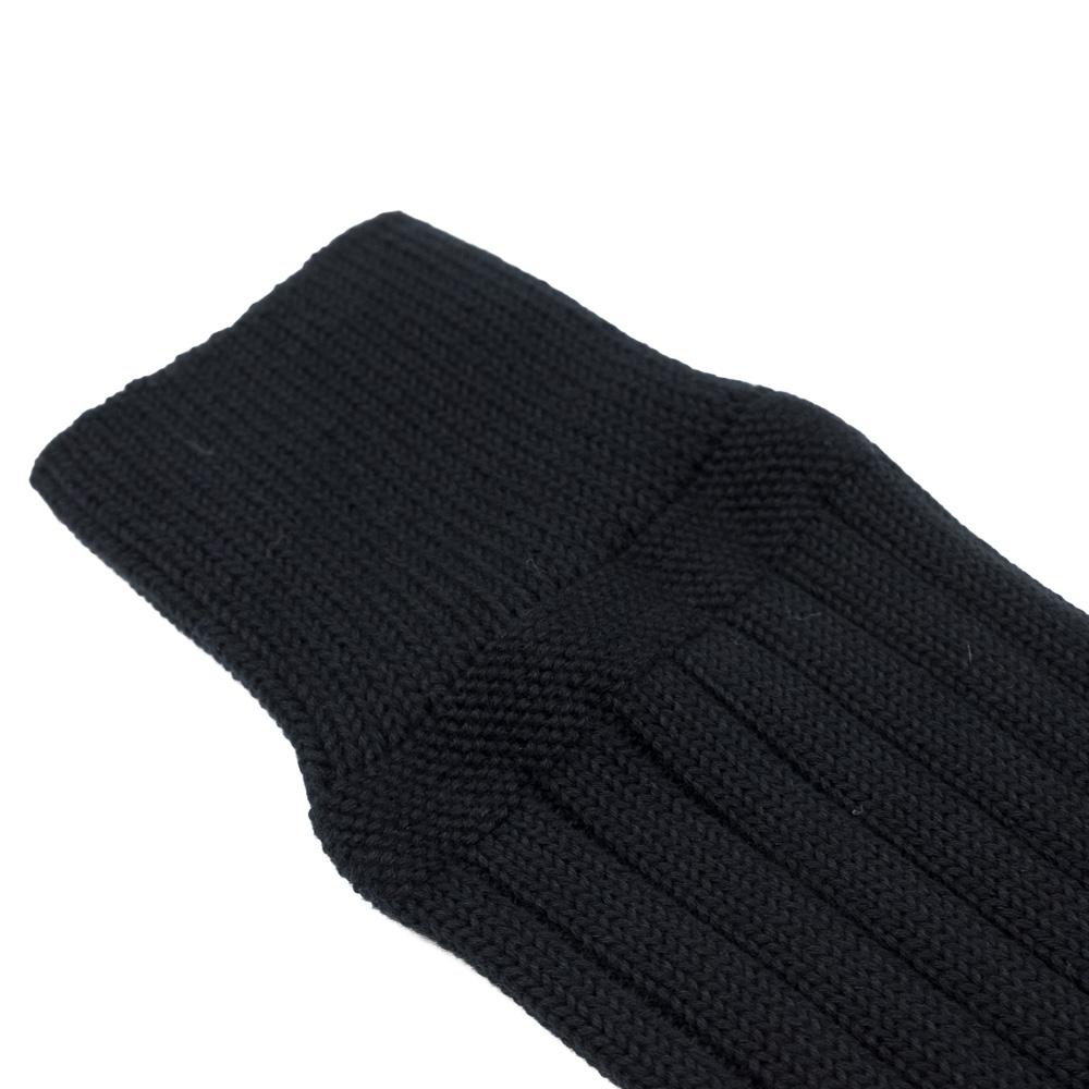 Kuro Egyptian Cotton Rib Socks - Black