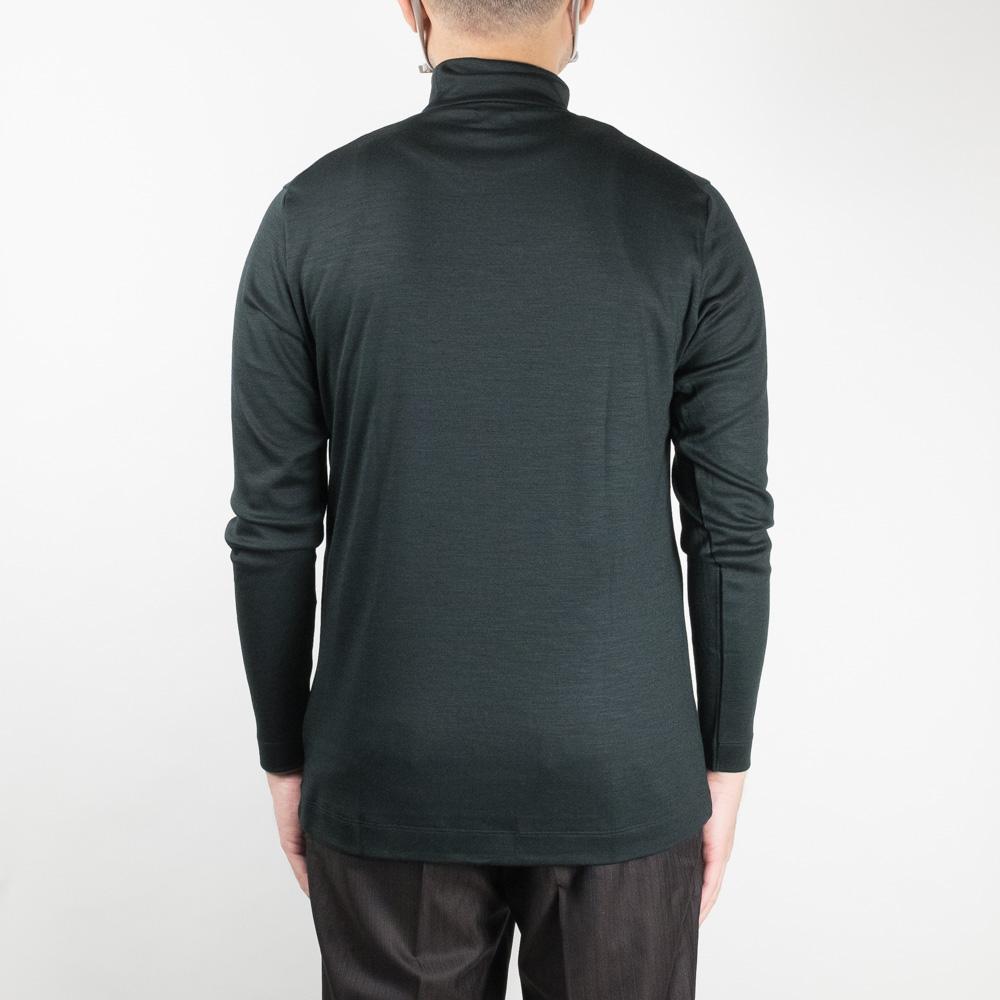IKIJI Wool High Neck Tops - Dark Green