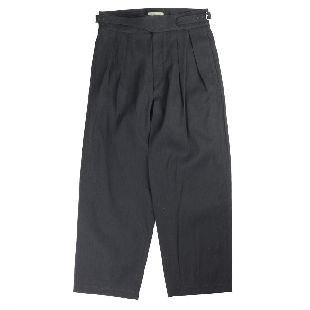 Kuro Wide Gurkha 2Tuck Pants - Black