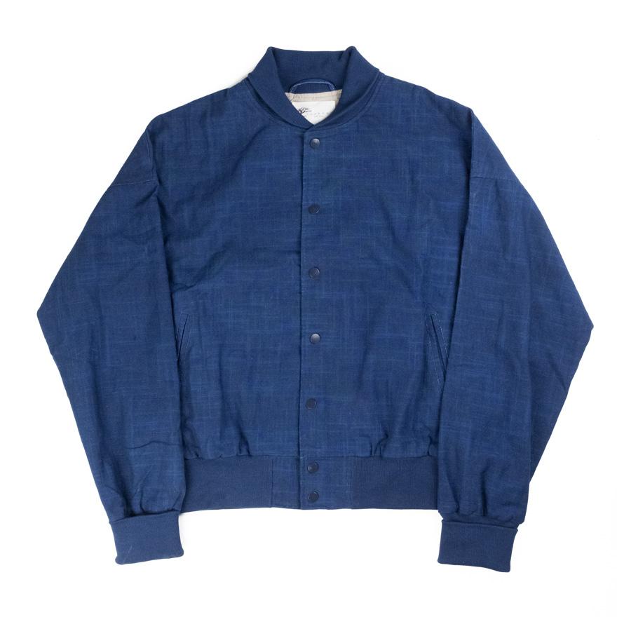 Taproot Hand Dyed Varsity Jacket - Indigo