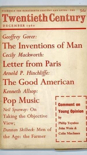 Twentieth Century: December 1960 Vol. 168 No. 1006