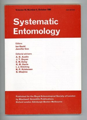 Systematic Entomology Volume 10, Number 4, October 1985