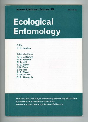 Ecological Entomology Volume 10, Number 1 February 1985
