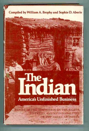 The Indian. America's Unfinished Business. Report of the Commission on the Rights, Liberties, and Responsibilities of the American Indian