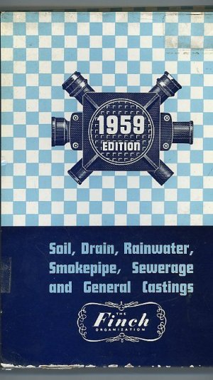 Cast Iron Soil, Drain and General Castings Revised 1959 Edition
