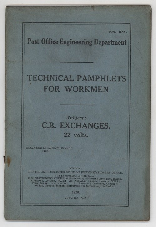 Technical Pamphlets for Workmen