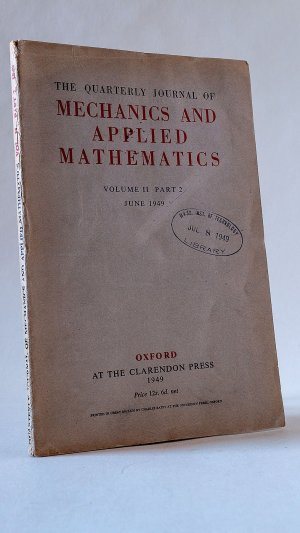The Quarterly Journal of Mechanics and Applied Mathematics Volume II Part 2 June 1949