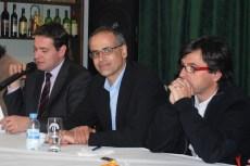 Martí i Cinca durant una trobada a la Casa de Portugal.