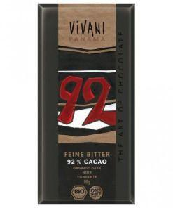 Chocolate negro 92% ecológico Vivani 80grs.
