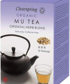 Organic Mu Tea - Mezcla de hierbas orientales - 20 bolsitas de té - Andorra MarketPlace