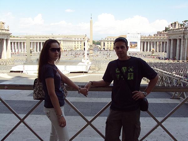 Plaza de San Pedro el Vaticano.