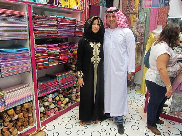 Vestido traje típico Musulmán Dubái.