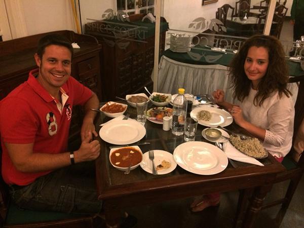 Cena típica India.