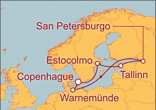 Mapa capitales-bálticas
