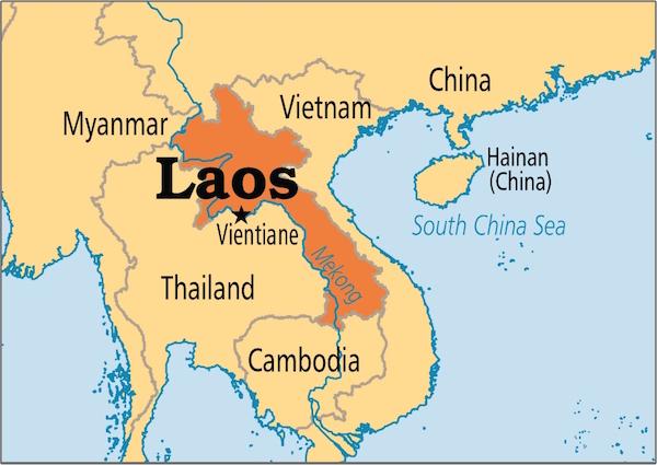 Laos Mapa