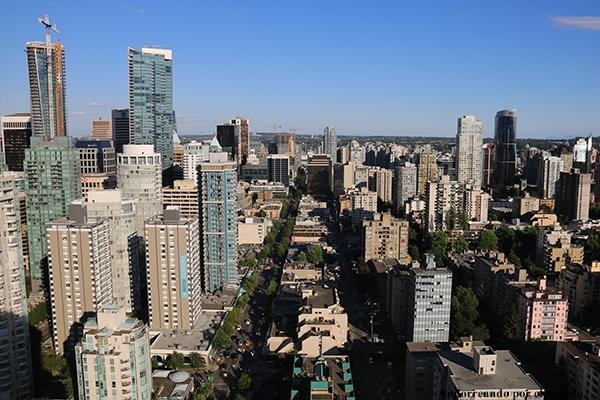 panorámica en hotel Top of Vancouver