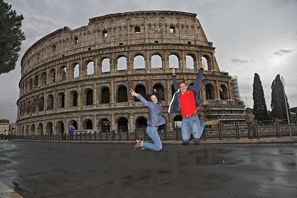 Jump Coliseo Romano Maravilla Del Mundo Moderno