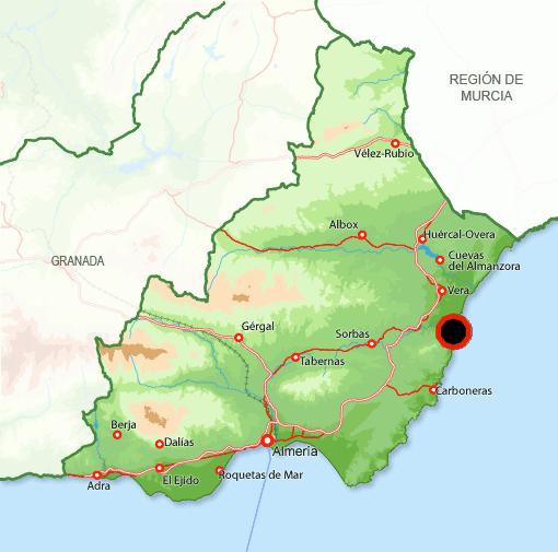 Mapa Mojácar