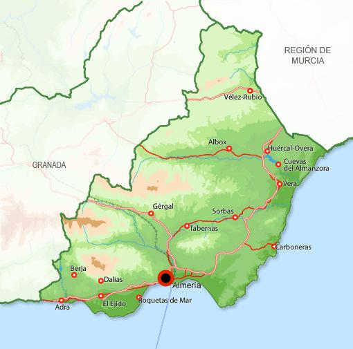 Mapa Almería
