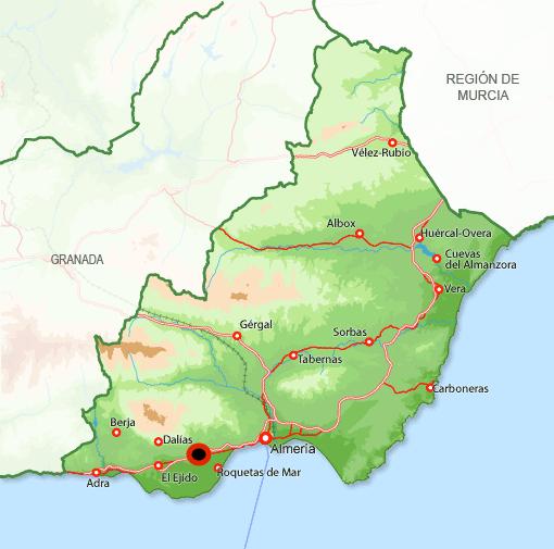 Mapa Vícar