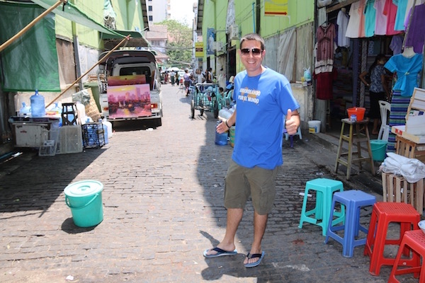 Calles Yangon-Andorreando por el Mundo