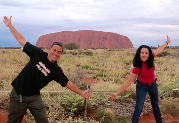 Monollito Uluru-Andorreando por el Mundo