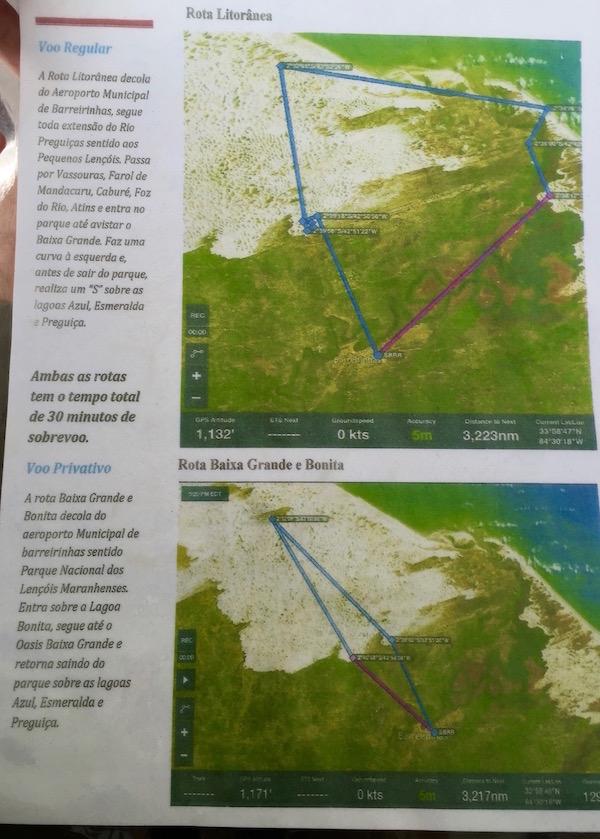 Rutas Vuelo Parque Nacional Lencois Maranhenses