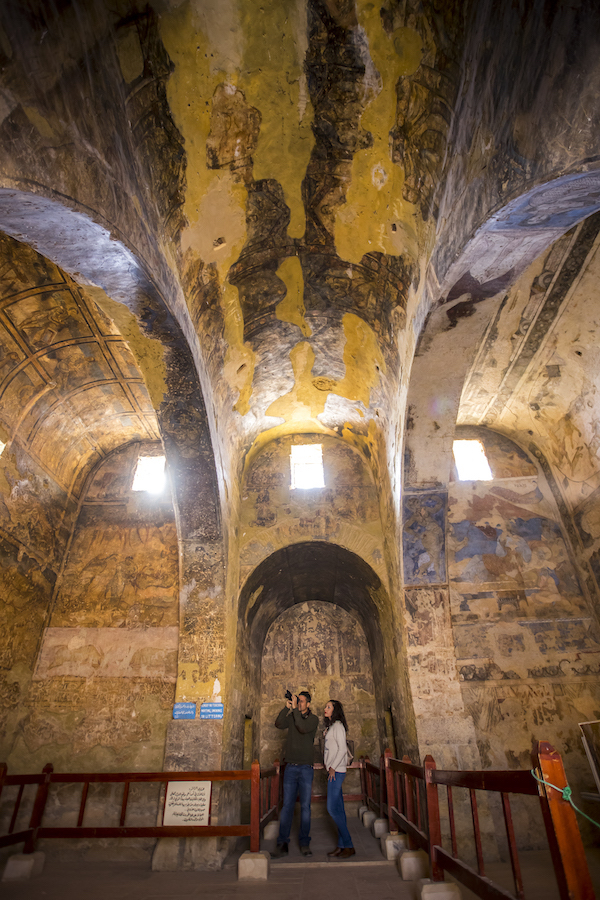 Interior Castillo Qusayr Amra.