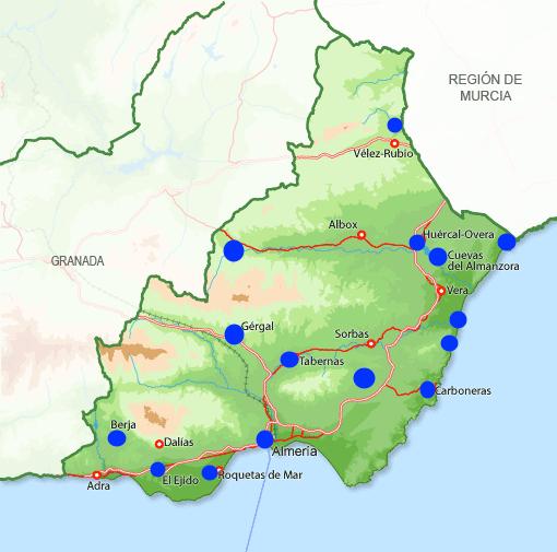 Mapa Provincia Almería