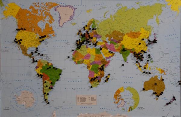 Mapa del Mundo Andorreando por el Mundo