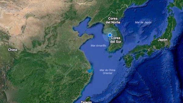 Mapa Corea del Sur
