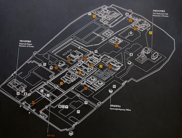 Mapa Palacio Gyeongbokgung
