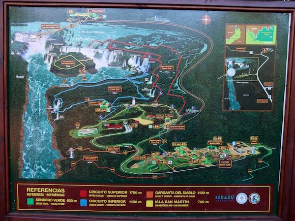 Mapa Parque Nacional Iguazú